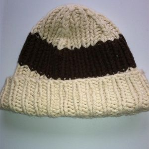 Abercrombie & Fitch WOMEN cotton CABLE KNIT hat